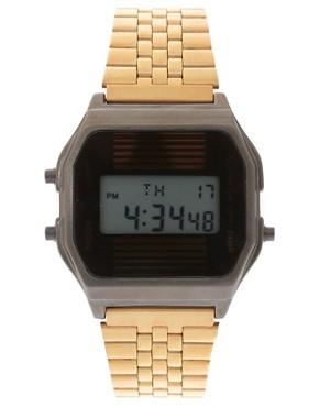 Image 1 ofASOS 2 Tone Retro Digital Watch