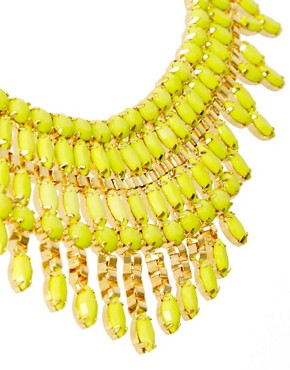 Image 4 ofASOS Opaque Stone Bib Necklace