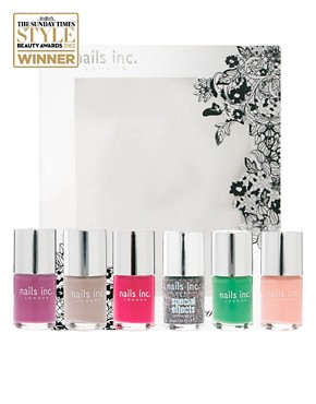 Image 1 ofNails Inc 6 Piece Colour Collection SAVE 47% - FULL SIZE BOTTLES