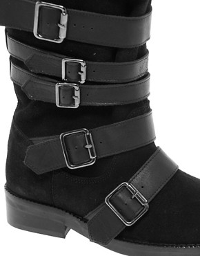 Image 2 ofASOS CABIN Leather Buckle Boots