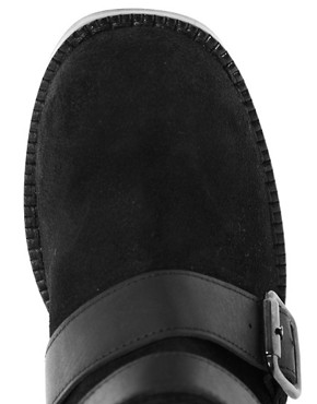 Image 4 ofASOS CABIN Leather Buckle Boots