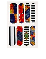 Parches con rayas y flores en exclusiva para ASOS de Nail Rock