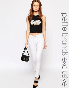 New Look Petite Skinny White Jean