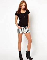 Blank NYC Stripe Shorts