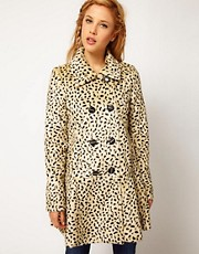 Free People Cheetah Coat in Faux Fur