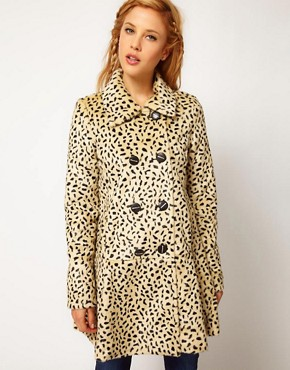 Image 1 of Free People Cheetah Coat in Faux Fur