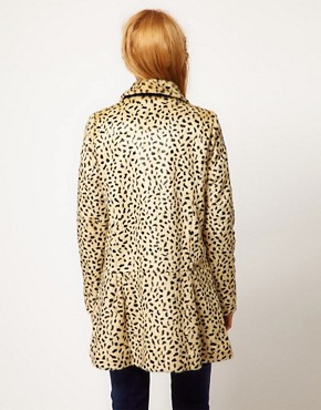 Image 2 of Free People Cheetah Coat in Faux Fur