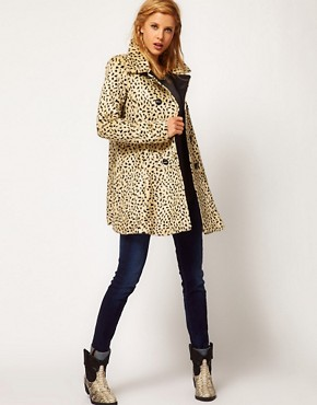 Image 4 of Free People Cheetah Coat in Faux Fur