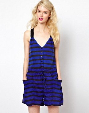 Image 1 ofSonia by Sonia Rykiel Jersey and Silk Mixed Playsuit