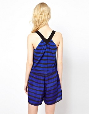 Image 2 ofSonia by Sonia Rykiel Jersey and Silk Mixed Playsuit