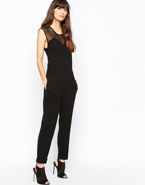Just Female Own Jumpsuit with Sheer Yoke