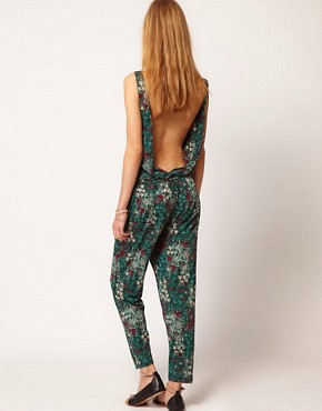 Image 2 ofGanni Jumpsuit in Floral Print