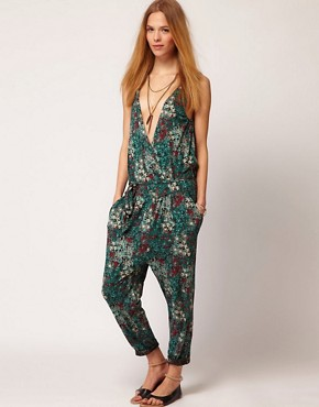 Image 4 ofGanni Jumpsuit in Floral Print