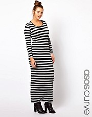 ASOS CURVE Exclusive Maxi Dress In Stripe