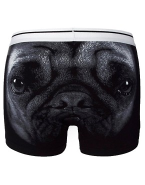 ASOS Trunks With Pug Print