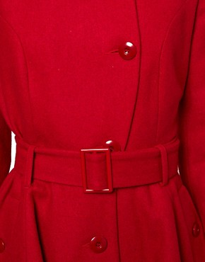 Image 3 ofASOS Skater Belted Coat