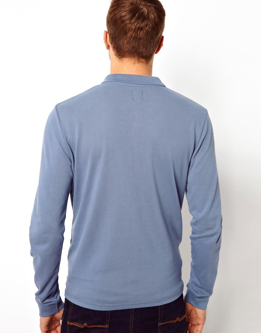 Image 2 of ASOS Polo Shirt With Long Sleeves