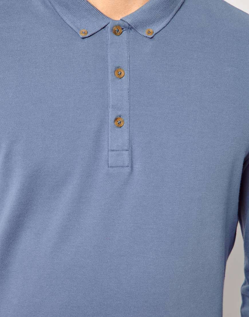 Image 3 of ASOS Polo Shirt With Long Sleeves
