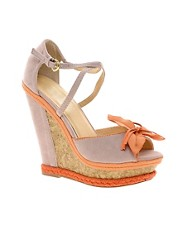 Timeless Krystal Wedges With Corsage Detail