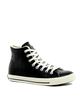 Image 1 ofConverse All Star Shearling Lined Hi-Top Trainers