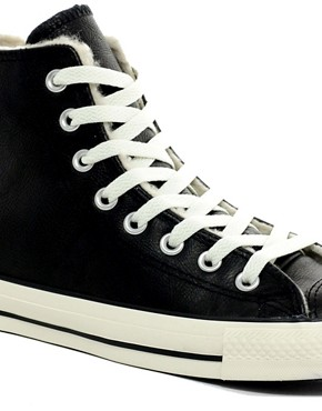 Image 2 ofConverse All Star Shearling Lined Hi-Top Trainers