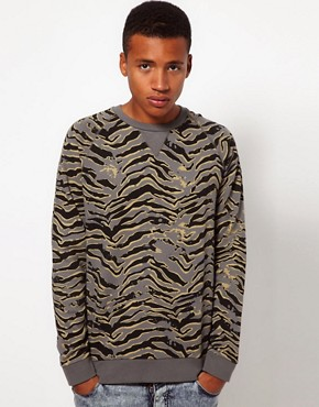 Image 1 ofASOS Sweatshirt With Animal Print
