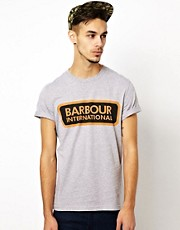 Barbour T-Shirt with International Logo