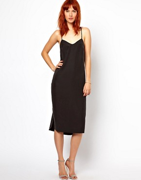 Image 1 ofGanni Slip Dress with Low Back in Cupro