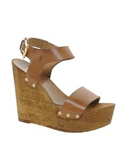 Faith Daija Leather Wedge Sandals
