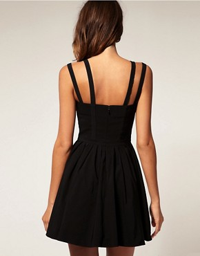 Image 2 ofASOS Skater Dress With Multi Strap