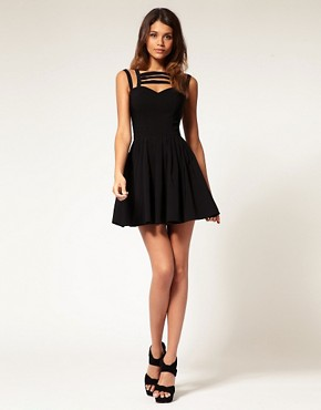 Image 4 ofASOS Skater Dress With Multi Strap