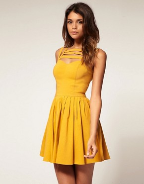 Image 1 ofASOS Skater Dress With Multi Strap