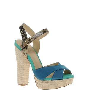 Image 1 ofALDO Herridge Espadrille Platform Heeled Sandals