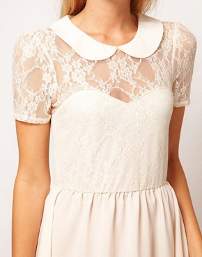 Image 3 ofASOS Lace Shirt Dress With Peterpan Collar