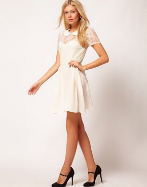 Image 4 ofASOS Lace Shirt Dress With Peterpan Collar