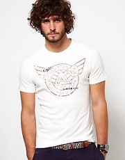 G Star T-Shirt Mercury Wing Stamp Logo