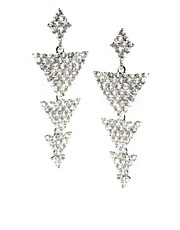 Love Rocks Rhinestone Triangle Drop Earrings