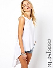 ASOS Petite Top with Trapeze and Skeleton Back