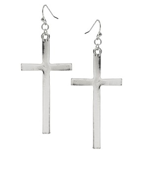 Image 1 ofASOS Cross Earrings