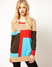 b + ab Colour Block Jumper
