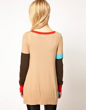 Image 2 of b + ab Colour Block Jumper
