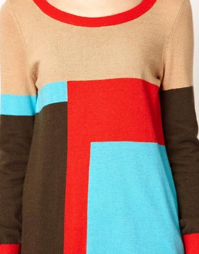 Image 3 of b + ab Colour Block Jumper