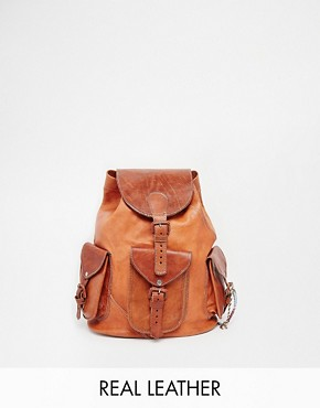 Hiptipico Viva Hand Crafted Leather Backpack