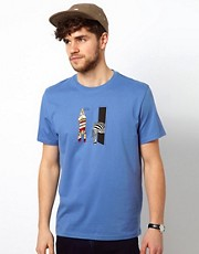 Paul Smith Jeans T-Shirt with Zebra Print