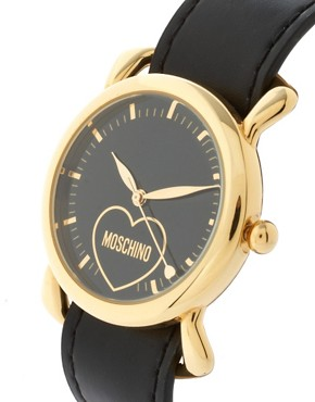 Image 2 ofMoschino Watch With Dual Leather and Silk Straps