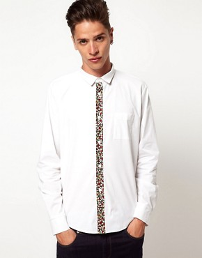 Image 1 ofReclaimed Vintage Floral Placket Shirt