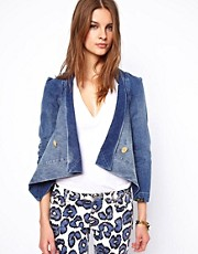 Vivienne Westwood Anglomania For Lee Wrap Front Denim Jacket