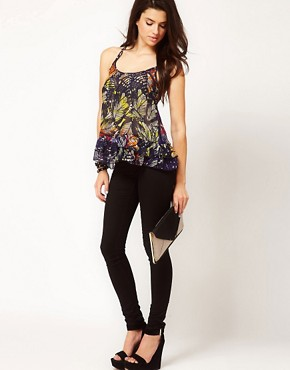 Image 4 ofASOS Cami With Stencil Palm Leaf Print