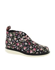 Dr.Martens Wedge Nixon Rose Canvas Flat Shoe