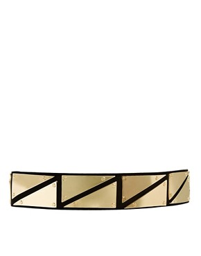 Image 1 ofASOS Triangle Metal Plate Detail Waist Belt